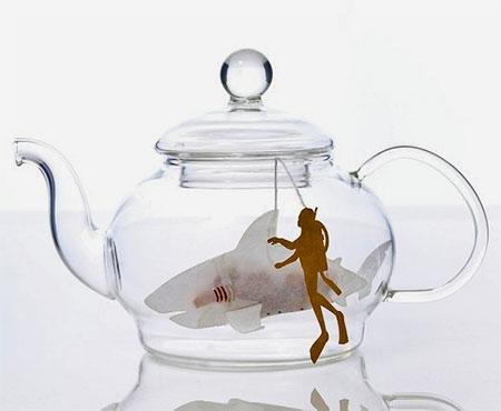 Shark Shaped Teabags