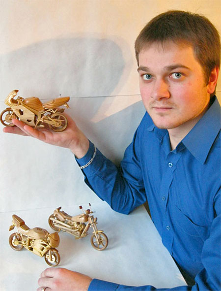 Miniature Wooden Motorcycles