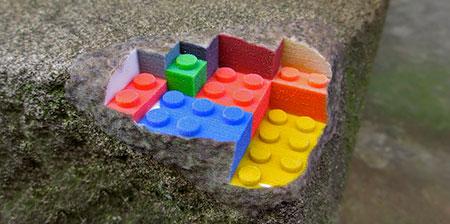 3D Printed LEGO Street Art