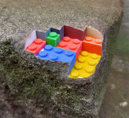 3D Printed LEGO Sandstone