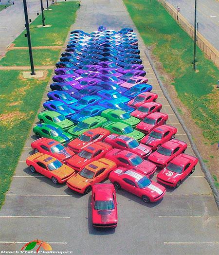 Dodge Car Rainbow
