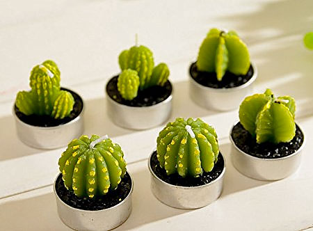 Cactus Shaped Candle