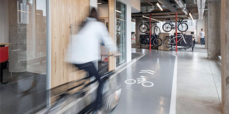 Office with Bicycle Lanes
