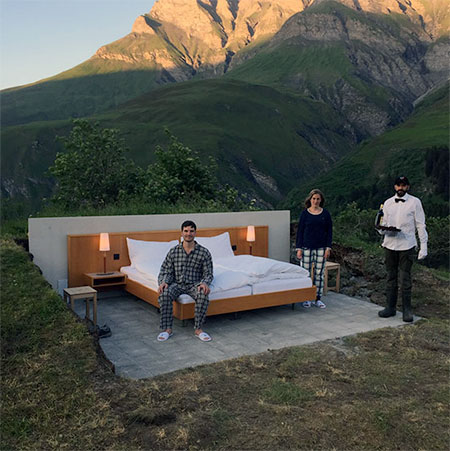 Outdoor Hotel Room