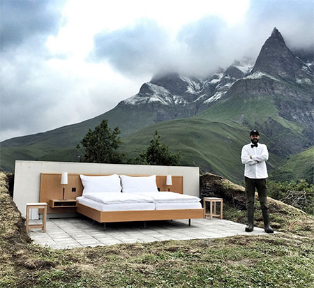 Open Air Hotel Room