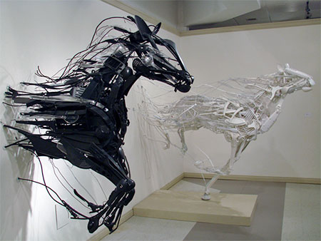 Plastic Utensils Sculptures