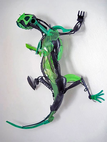 Sayaka Ganz Plastic Utensil Sculptures
