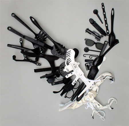 Sayaka Ganz Plastic Utensils Sculptures