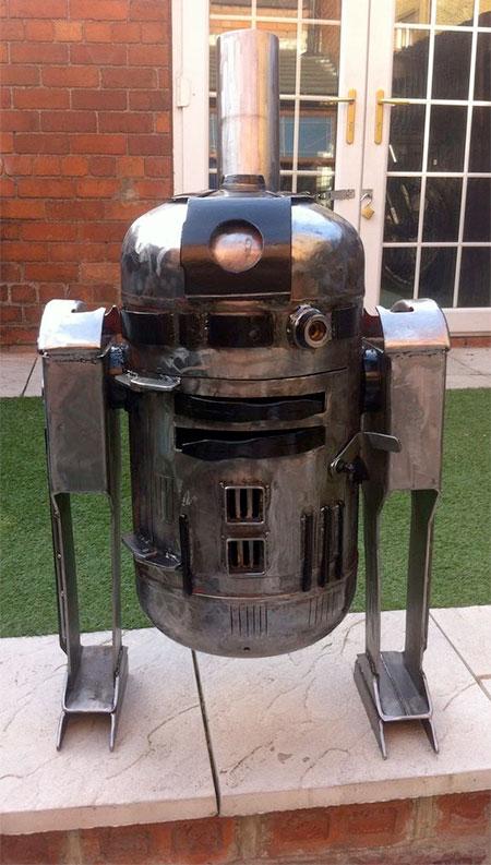 R2-D2 Wood Burner