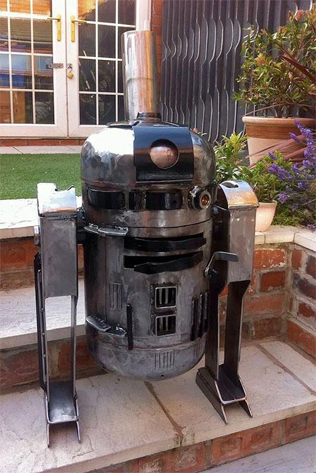 R2-D2 Log Burner
