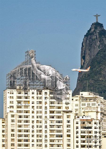 Athletes on Buildings