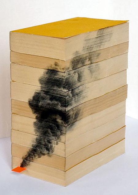 Drawings on Sides of Books