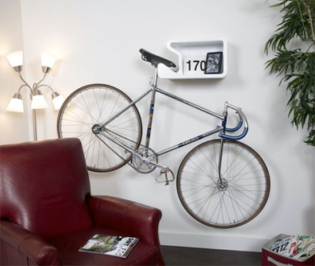 Bicycle holder shelf Bicycle bookshelf