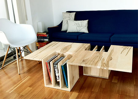 Bookshelves Table