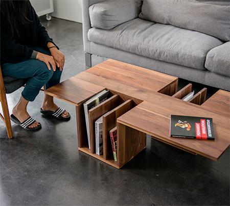 Endri Hoxha Bookshelf Table