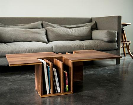 Endri Hoxha Bookshelf Coffee Table