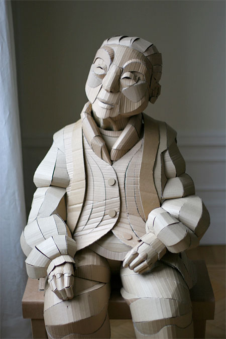 Warren King Cardboard Sculptures