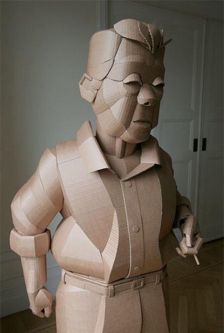 Warren King Cardboard Sculpture