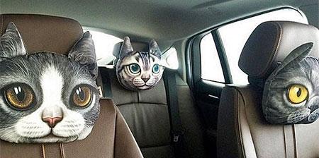 Cat and Dog Headrest Pillows