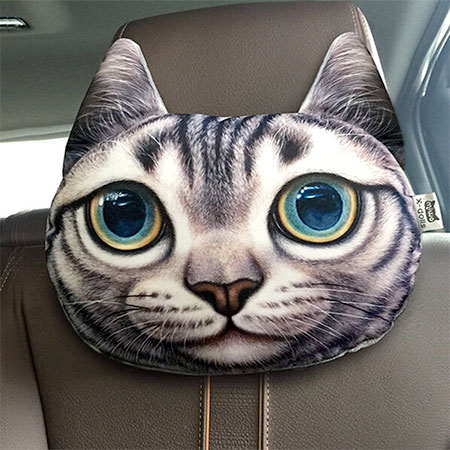 Cats and Dogs Headrest Pillows