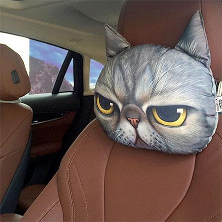 Cat Headrest Pillow