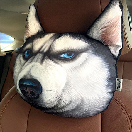 Dog headrest pillow