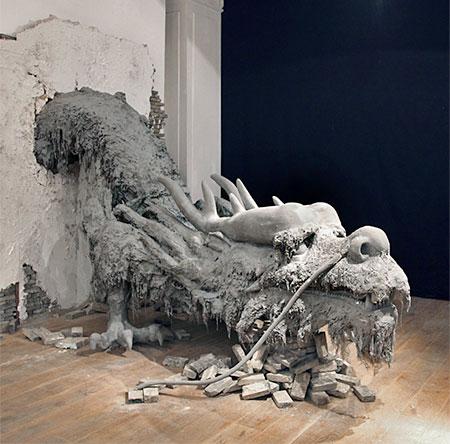 Cement Dragon Sculpture