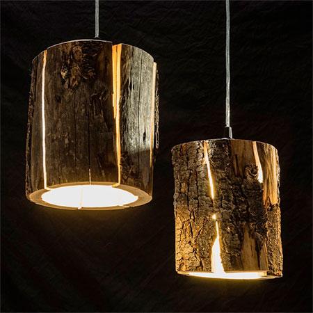 Duncan Meerding Log Lamp