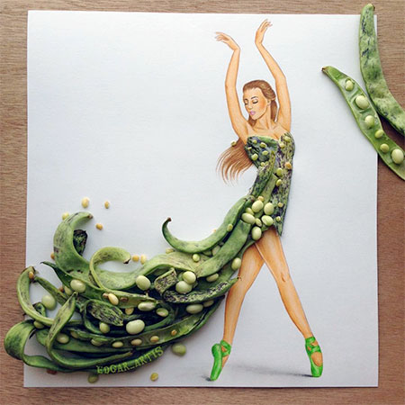 Food Art Dress
