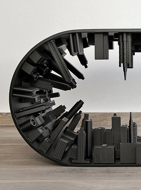 Black Edition Wave City Table