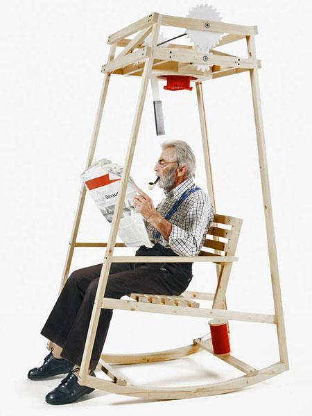 Hat Knitting Rocking Chair