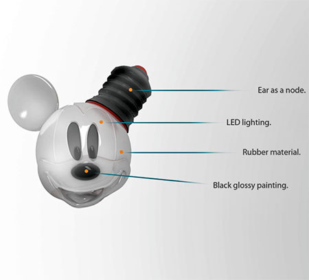 Hongkue Lee Mickey Mouse Light Bulb