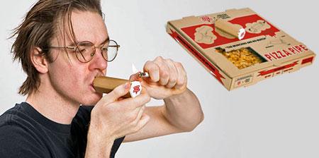 Pizza Box Pipe
