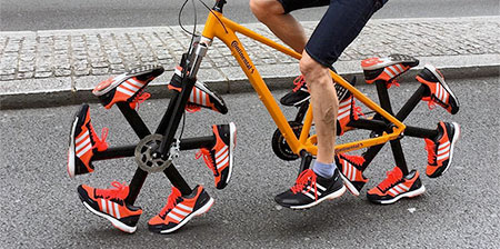 Running Shoes Bicycle
