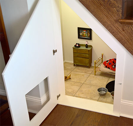 Amazing Dog Room Under The Stairs