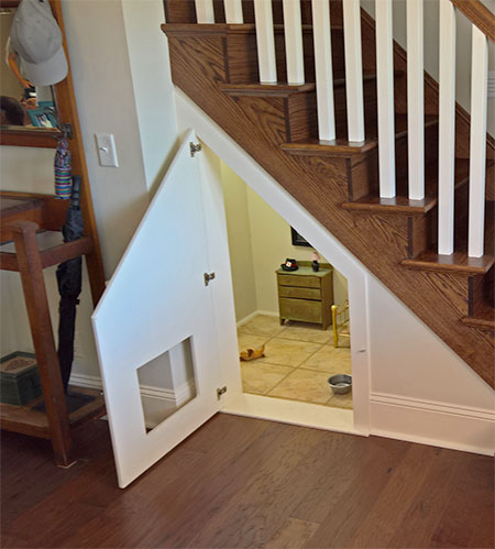 Doghouse Under The Stairs. Harry Potter Doghouse