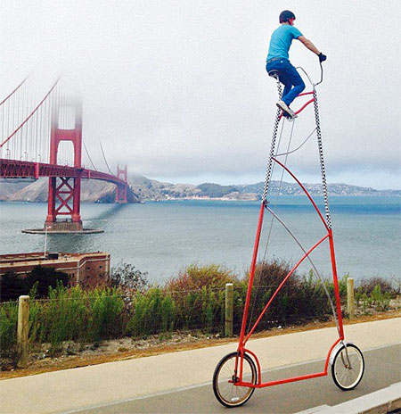 World S Tallest Bicycle