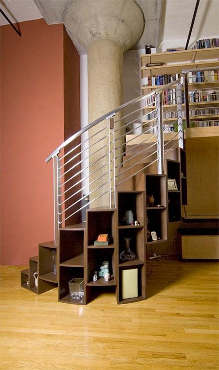 Storage Spiral Staircase