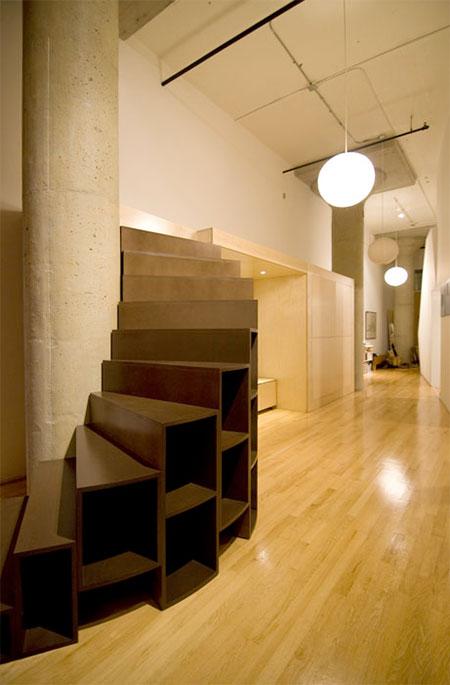 Bookshelf Spiral Staircase