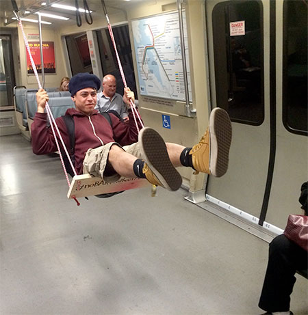 Subway Train Swing