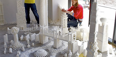Sugar Cube Sculptures