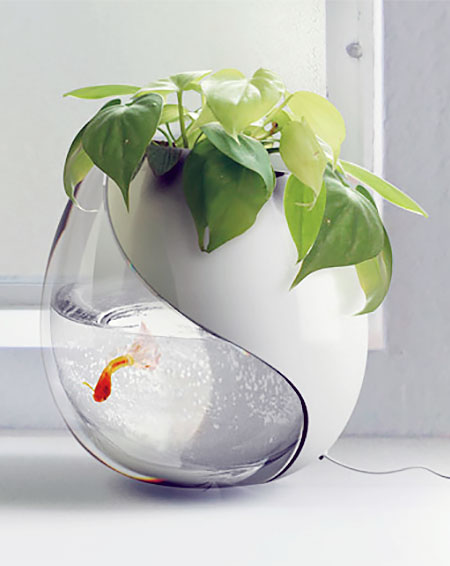 Fish Bowl Flower Pot