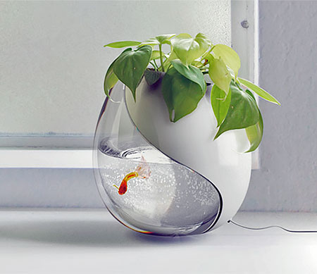 Fishbowl Flower Pot