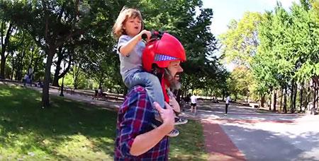Helmet with Handlebars