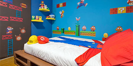 Super Mario Hotel Room