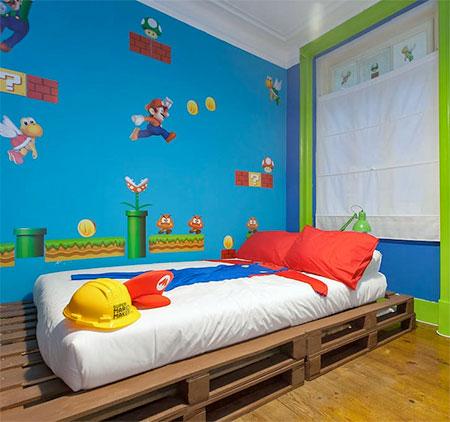 . Super Mario Hotel Room