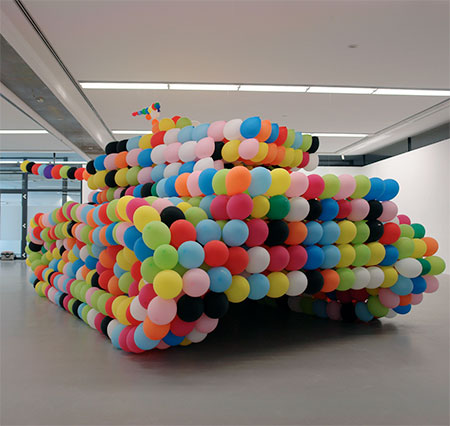 Tank Made of Balloons