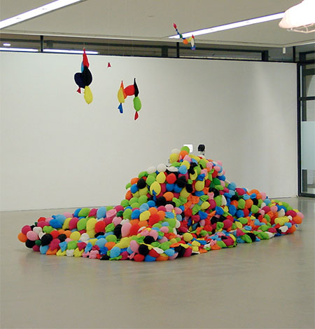 Tank Made out of Balloons