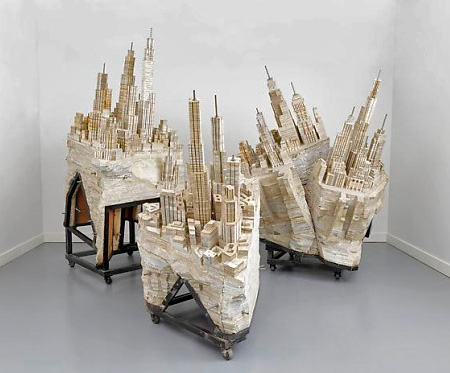 Liu Wei Book Sculptures