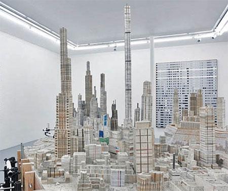 Liu Wei Book Cityscape